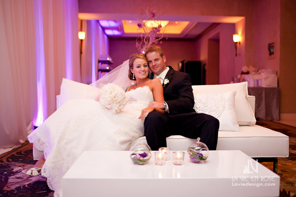 la-vie-en-rose-wedding-purple-up-light-bride-groom-white-lounge-furniture-reception-hyatt-regency-clearwater-beach-florida