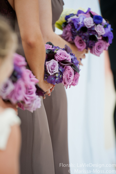 la-vie-en-rose-purple-lavender-hydrangea-bouquet-bride-maid-ceremony-hyatt-clearwater-beach-florida