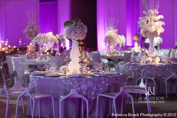 la-vie-en-rose-special-event-jouney-to-love-white-guest-table-modern-centerpiece-floating-candle-reception-purple-up-light-tampa-florida