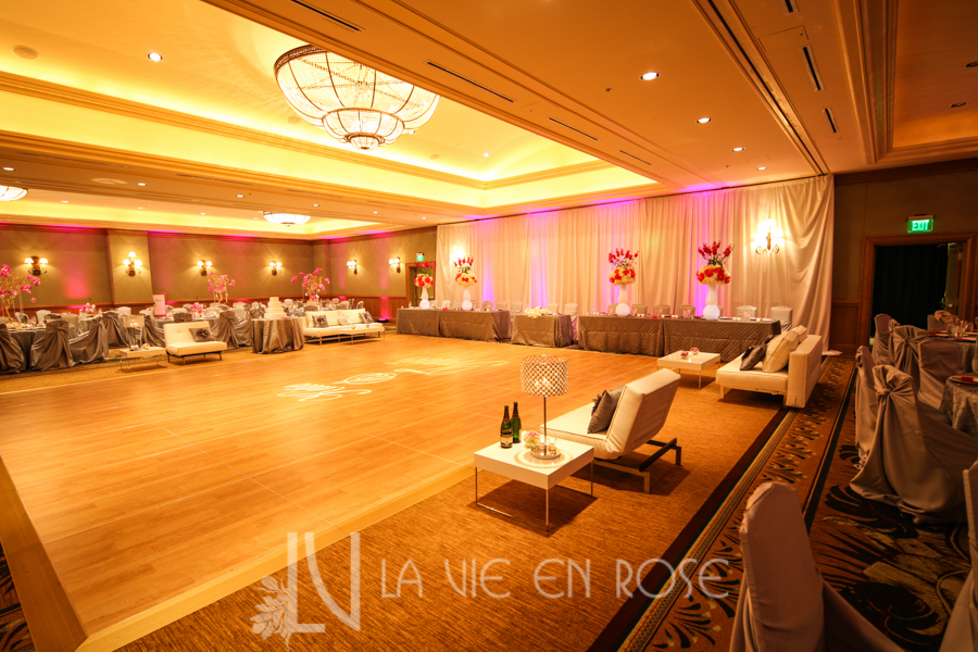 la-vie-en-rose-wedding-silver-chair-cover-linens-drape-LED-up-lighting-white-lounge-furniture-dance-floor-pin-light-monogram-hyatt-regency-clearwater-beach-florida