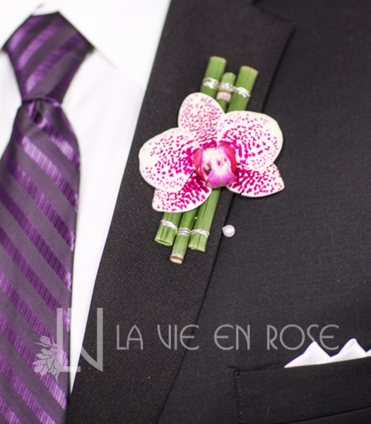 la-vie-en-rose-groom-boutineer-orchid-wedding-purple-venue-tampa-florida