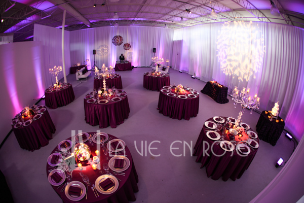 la-vie-en-rose-reception-guest-table-centerpiece-globe-crystal-candelabra-wedding-purple-venue-tampa-florida