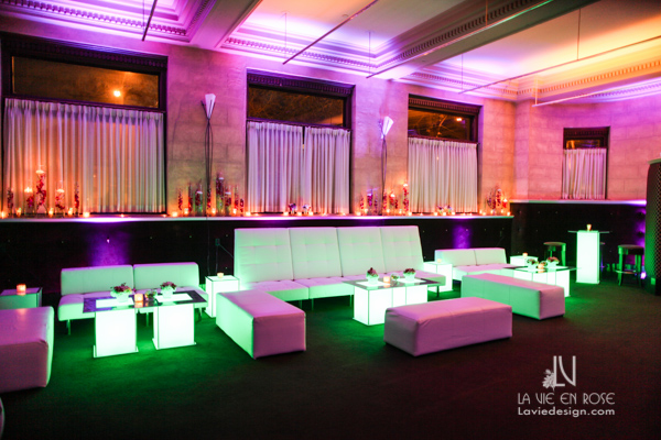 la-vie-en-rose-tampa-bay-metro-magazine-mise-place's-lafayette-room-baisden-gallery-green-purple-white-light-lounge-furniture