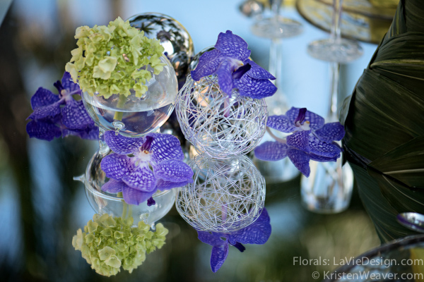 la-vie-en-rose-grace-ormonde-mirrored-table-top-blue-vanda-grass-orchid-shoot-green-purple-miami-four-seasons-florida