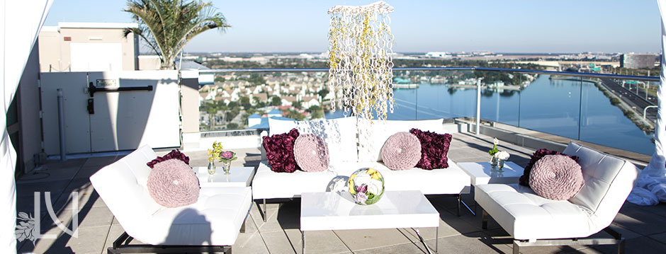 La vie en rose floral d cor event design furniture Home furniture rental tampa