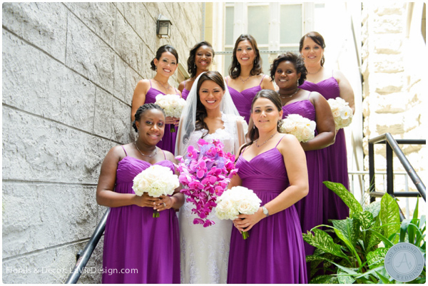 la-vie-en-rose-orchid-bridal-party-bride-phalaenopsis-vanda-purple-sacred -heart-cuban-club-tampa-florida
