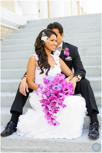 la-vie-en-rose-orchid-groom-bride-bouquet-phalaenopsis-vanda-purple-sacred -heart-cuban-club-tampa-florida