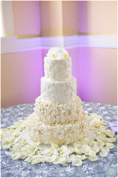 la-vie-en-rose-cake-table-reception-petals-cuban-club-tampa-florida
