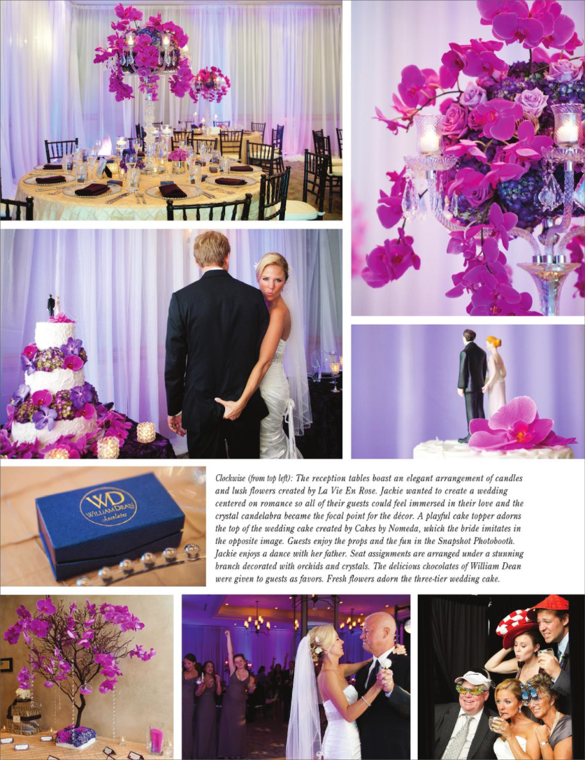 la-vie-en-rose-tampa-bay-weddings-magazine-phalaenopsis-orchid-structure-drape-white-purple-bride-groom-kiss-ceremony-hyatt-clearwater-beach-florida