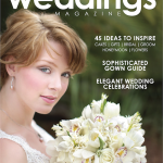 La Vie en Rose Design's White Orchid, Tulip, Hyacinth Bouquet on the Cover of Tampa Bay Weddings Magazine