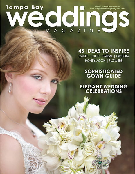 la-vie-en-rose-tampa-bay-weddings-magazine-summer-2009-cover-shoot-bridal-bouquet-white-cymbidium-orchid-akito-pearl-hyacinth-dream-tulips-crystal-studded-butterly-lowry-park-zoo