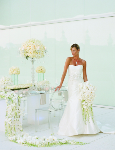 la-vie-en-rose-tampa-bay-wedding-magazine-summer-2011-white-green-orchid-cover-shoot-museum-of-art-florida