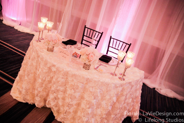 la-vie-en-rose-sweetheart-table-rosette-linen-ivory-pink-floating-candle-wedding-reception-white-ivory-intercontinental-tampa-florida