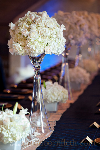 la-vie-en-rose-wedding-white-tall-arrangement-feasting-table-blue-up-lighting-runer-peonie-hydrangea-stock-reception-powel-crosley-estate-sarasota-florida
