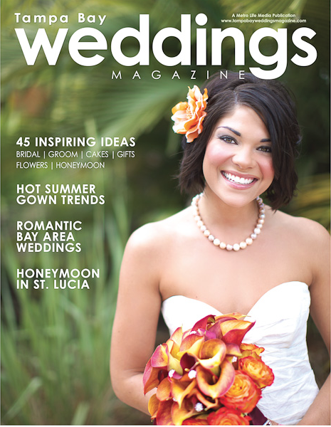 la-vie-en-rose-tampa-bay-weddings-magazine-fall-2009-covershoot-bridal-bouquet-orange-mango-mini-calla-lilies-circus-pave-crystal-lowry-park-zoo