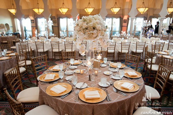 la-vie-en-rose-wedding-reception-guest-table-gold-phalaenopsis-orchid-hydrangea-vinoy-renaissance-st-petersburg-florida