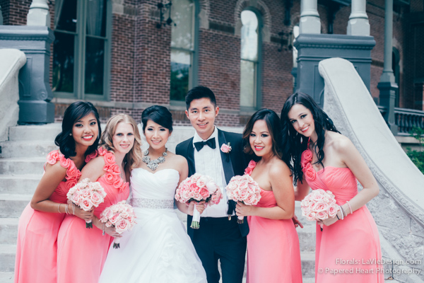 la-vie-en-rose-bridal-party-bouquet-university-of-tampa-bridesmaid-dress-downtown-tampa-florida
