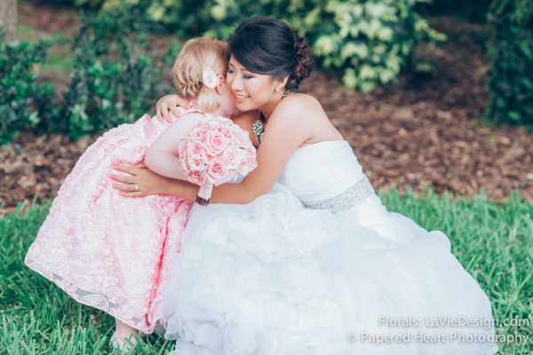 la-vie-en-rose-wedding-bride-flower-girl-bouquet-university-of-tampa-downtown-florida