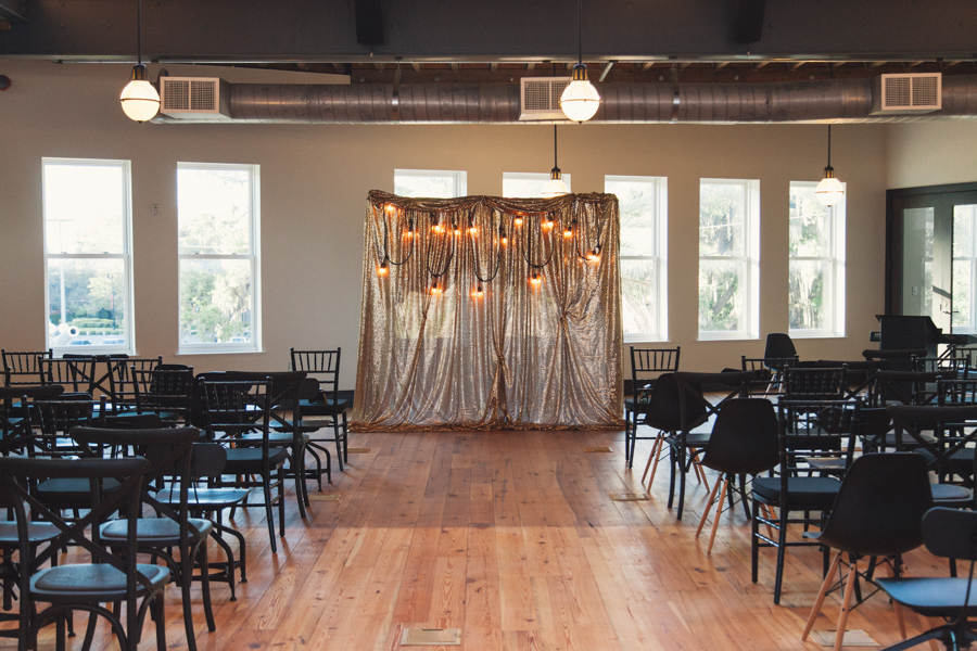 la-vie-en-rose-wedding-reception-ceremony-downtown-tampa-bay-invitation-bride-and-groom-altar-drapery-gold-sequin-market-lights-glitter-glow-elegant-romantic-love-happily-ever-after-the-oxford-exchange