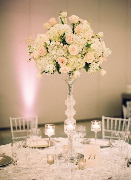 La-vie-en-rose-miami-florida-wedding-centerpiece-reception-white-ivory-blush-flower-crystal-candelabra-elegant-ritz-carlton-south-beach