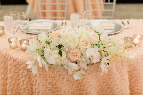 La-vie-en-rose-miami-florida-wedding-gorgeous-reception-head-table-garland-white-ivory-blush-peony-garden-tulip-flower-eucalyptus-elegant-ritz-carlton-south-beach