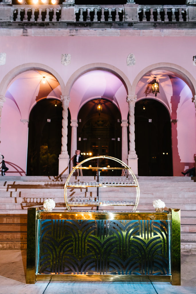 La-vie-en-rose-sarasota-florida-wedding-white-reception-flower-bar-elegant-lighting-ringling-museum